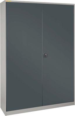 Werkplaatskast, met 3 verticale uittrekelementen, T 520 mm, licht zilver/antracietgrijs, met 3 uittrekelementen.