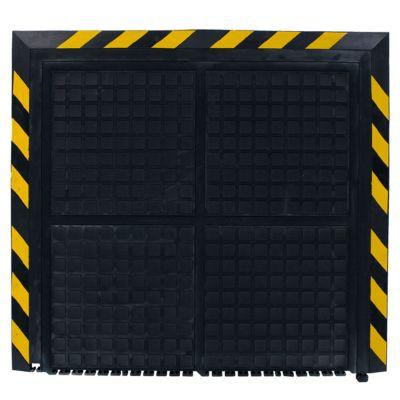Werkplaatsmat 4211, Hog Heaven II linkable, yellow border-end, 1000 x 1100 mm