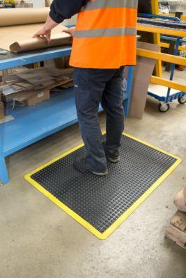 Werkplaatsmat Bubblemat Safety, module-functie eindmat, 600x900mm