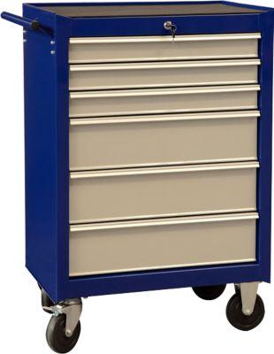 Werkplaatswagen Projahn ECOBlue, met zwenkwielen, 400 kg draagvermogen, 6 laden