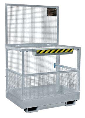 Werkplatform Bauer MB-B, 2 personen/300 kg, opname met heftruck brede kant, thermisch verzinkt EN ISO 1461