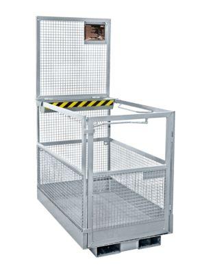 Werkplatform Bauer MB-B/L, 2 personen/300kg, opname met heftruck smalle kant, thermisch verzinkt EN ISO 1461