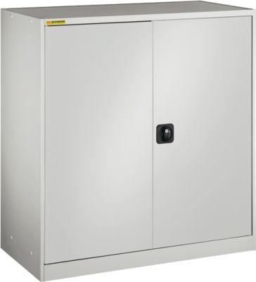 Werkstattschrank, mit 1 Zwischenboden, mit 2 Schubladen, B 1055 mm, lichtgrau/lichtgrau