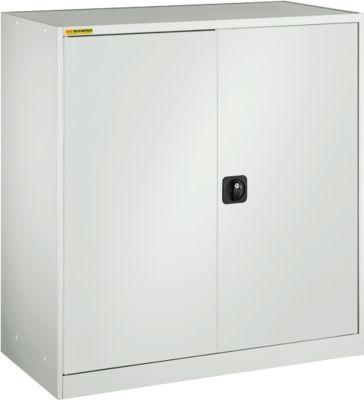 Werkstattschrank, mit 1 Zwischenboden, mit 2 Schubladen, B 1345 mm, lichtgrau/lichtgrau