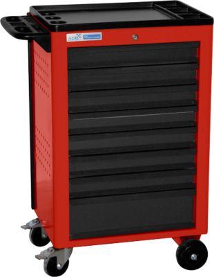 Werkstattwagen BASIC, 8 Schubladen, rot