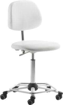 Werkstoel met voetenring, zonder armleuningen