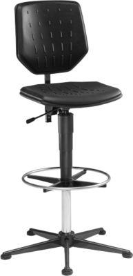 Werkstoel, model 9436, met glijders en voetensteun, integraalschuim