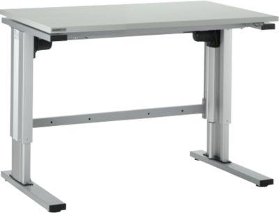 Werktafel  EL-1 120  grijs/alu zilver