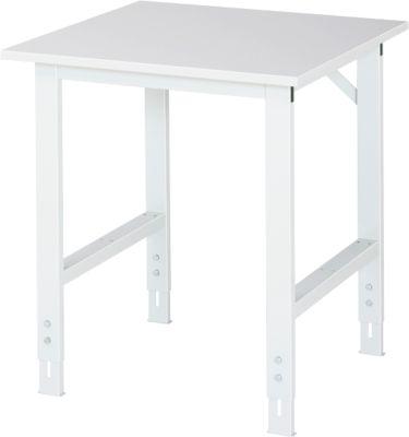 Werktafel, gemelamineerd blad, B 750 x D 800 x H 760-1080 mm