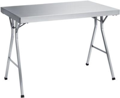 Werktafel RVS Inklabbaar, 1200x700x850