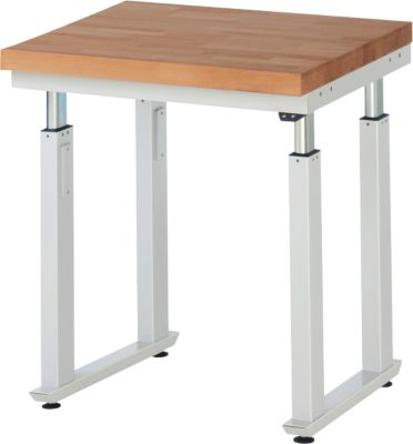 Werktafel serie adlatus 600, 750 x 700 x 740-1140 mm, werkblad massief-beuken