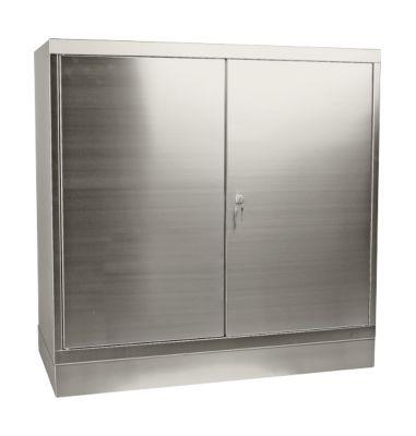 Werkzeugschrank, Edelstahl, Höhe 1050 mm, 2 Schubladen, 2 Böden