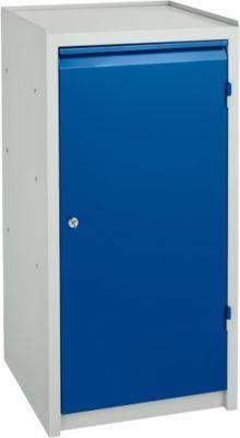 Werkzeugschrank, H 1000 x B 500 x T 500 mm, lichtgrau/blau