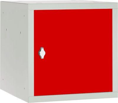 Wertfach-Schließfach, 400 x 400 x 400 mm, rot
