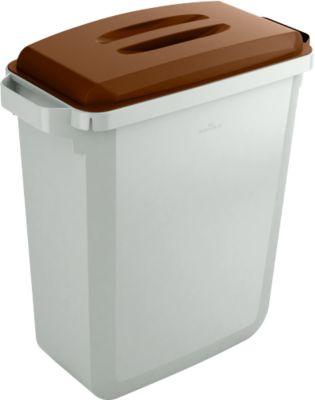 Wertstoff-Sammelbehälter, 60 l, mit Deckel, braun