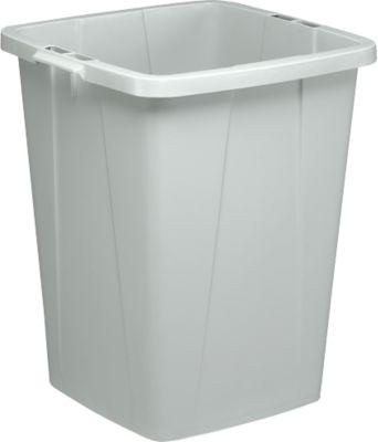 Wertstoff-Sammelbehälter, 90 l, ohne Deckel, grau