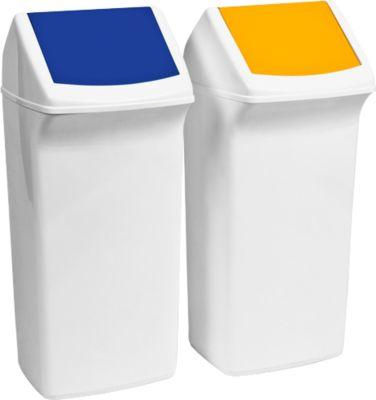 Wertstoffsammler Flip, 40 Liter, mit Deckel, blau