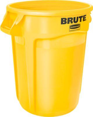 Wertstoffsammler, Polyethylen, rund, 121 l, gelb