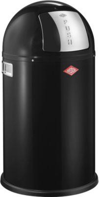 Wesco Abfalleimer Pushboy junior, Inhalt 22 L, mit Deckel, schwarz