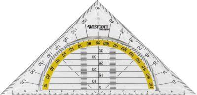 Westcot Standaard geodriehoek, 16 cm, stuk