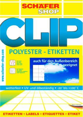 Wetterfeste Etiketten, 45,7 x 21 mm, transp. matt, 20 Blatt