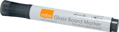 Whiteboard Marker nobo, auch für Glasboards geeignet, 4 Stück, schwarz