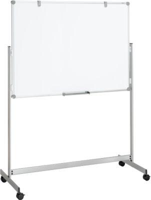 Whiteboard Maulpro Fixed Mobil, doppelte Arbeitsfläche, mobil, mit gratis Starter-Set, 100 x 150 mm