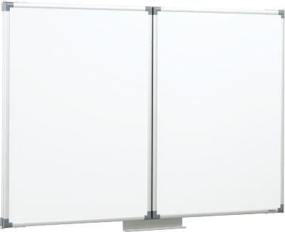 whiteboard met 2 inklapbare zijborden, 1500 x 1000 mm