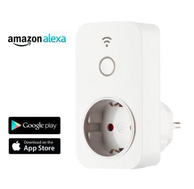 WiFi-Steckdose Swisstone SH100, 1-fach, 230 V/50 Hz bis 16 A, App-& Sprachsteuerung, weiß