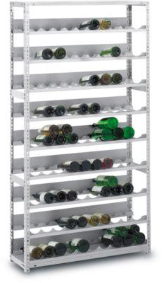Wijnflessenrek, schroefsysteem, 7 uitsparingen