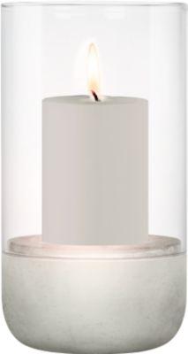 Windlicht blomus® CALMA, Glas klar & Beton, groß, für Kerzen