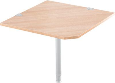 Winkelplatte 90° mit Fuß,B 900 x T 900 mm, Kirsche Romana/weißalu