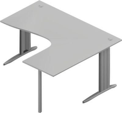 Winkelschreibtisch ARLON-OFFICE, B 1600 x T 1200 x H 730 mm, lichtgrau