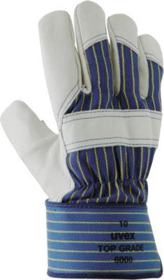 Winter-Schutzhandschuh uvex top grade 6000, Rindvollleder/Baumwoll-Trikot, EN 388: 3144 X, Größe 10, 10 Paar