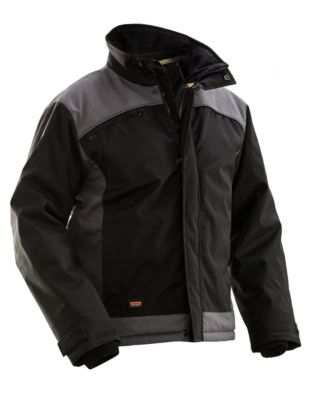 Winterjacke schwarz/grau L