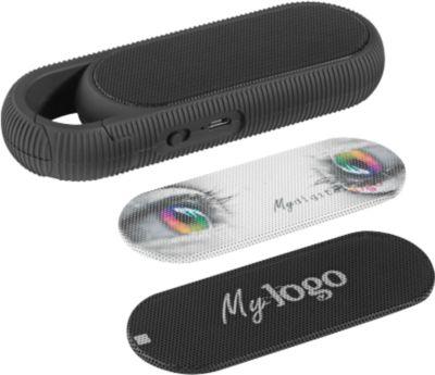 Wireless-Lautsprecher Metmaxx® Mr. Boombastic Pocket, 3 W, bis 5 h Spielzeit, schwarz, m. Karbiner, WAB
