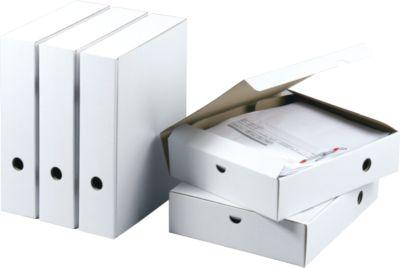 Witte archiefdozen