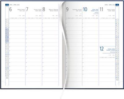 Wochenkalender, international, schwarz, 128 Seiten
