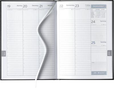 Wochenplaner Clubline, schwarz, deutsches Kalendarium