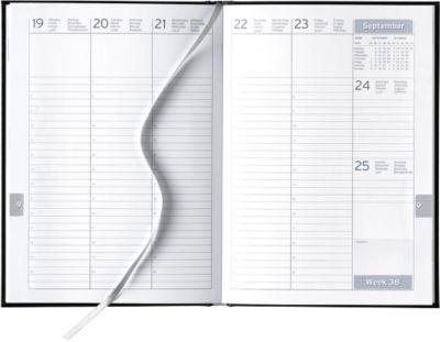 Wochenplaner Clubline, schwarz, internationales Kalendarium