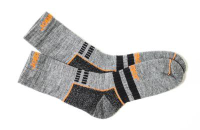 Wollsocken grau/schwarz 37-39