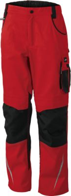 Workwear Pants, red/black, 54