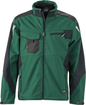 Workwear-Softshell Jacket, darkgr/bl, M