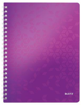 Wow schrift – A4 - 4638 geruit - dubble spiraalbinding - paars