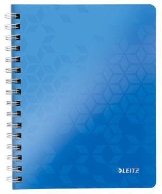 Wow schrift – A5 - geruit - dubble spiraalbinding - blauw
