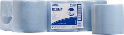 WYPALL® Reinigingsdoekjes L-10 EXTRA, centrale uitname, 6 rollen van 700 doeken, 1-laags, blauw