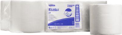 WYPALL® Reinigingsdoekjes L-10 EXTRA, centrale uitname, 6 rollen van 700 doeken, 1-laags, wit