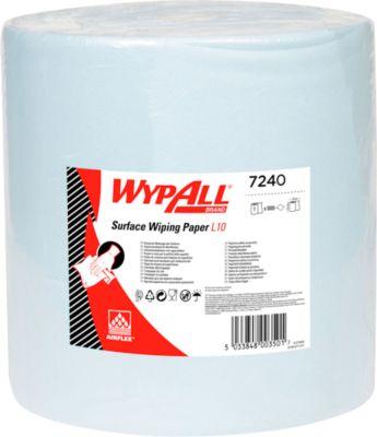 WYPALL* Wischtuch L-10 EXTRA + Großrolle, aus Airflexmaterial, 1000 Tücher, 1-lagig, blau