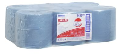 WYPALL* Wischtuch L-10 EXTRA Zentralentnahme RCS, aus Airflexmaterial, 3150 Tücher, 1-lagig, blau