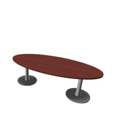 X-TIME-WORK vergadertafel ovaal, wengé/aluminium